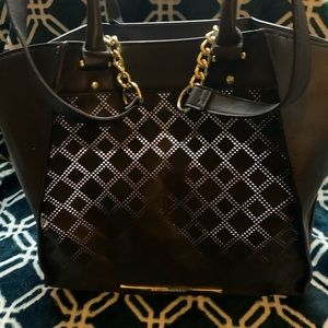 Almost Perfect Steve Madden Perforated Tote